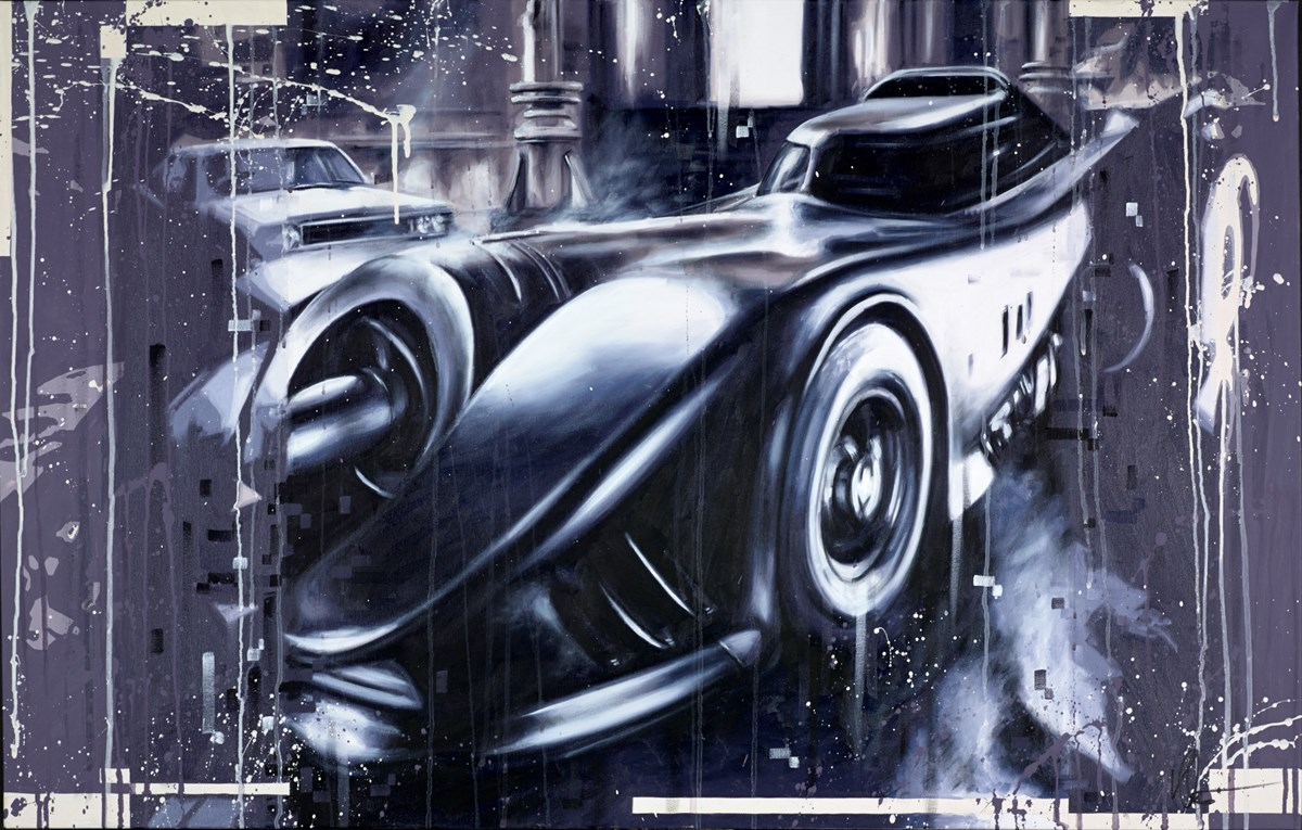 The Batmobile 1989 by kris hardy -  sized 44x28 inches. Available from Whitewall Galleries